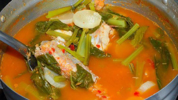 ช่วงโจโฉเข้าครัวกับ เมนู แกงส้มผักรวมมิตร ใส่เนื้อปลานิลสูตรน้ำซุปเข้มข้น
