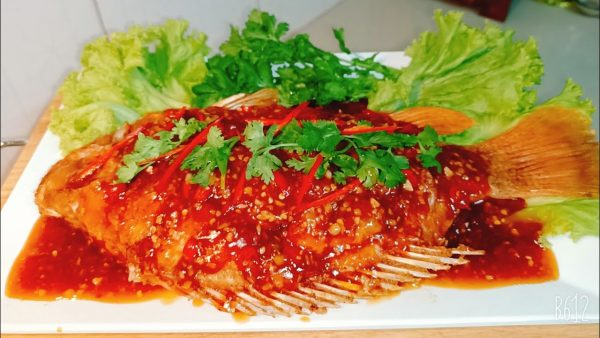 เมนู ปลาทับทิมราดพริก กรอบๆนอกนุ่มใน อาหารจานเด็ดเพื่อสุขภาพ
